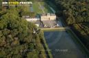Le  Château du Marais Le Val-Saint-Germain vue du ciel