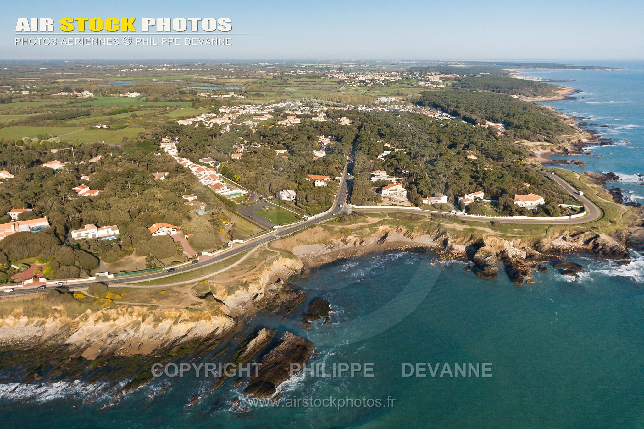 la Baie de Cayola, Talmont-Saint-Hilaire vue du ciel