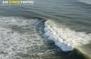 Surfer vue du ciel à Brétignolles-sur-Mer