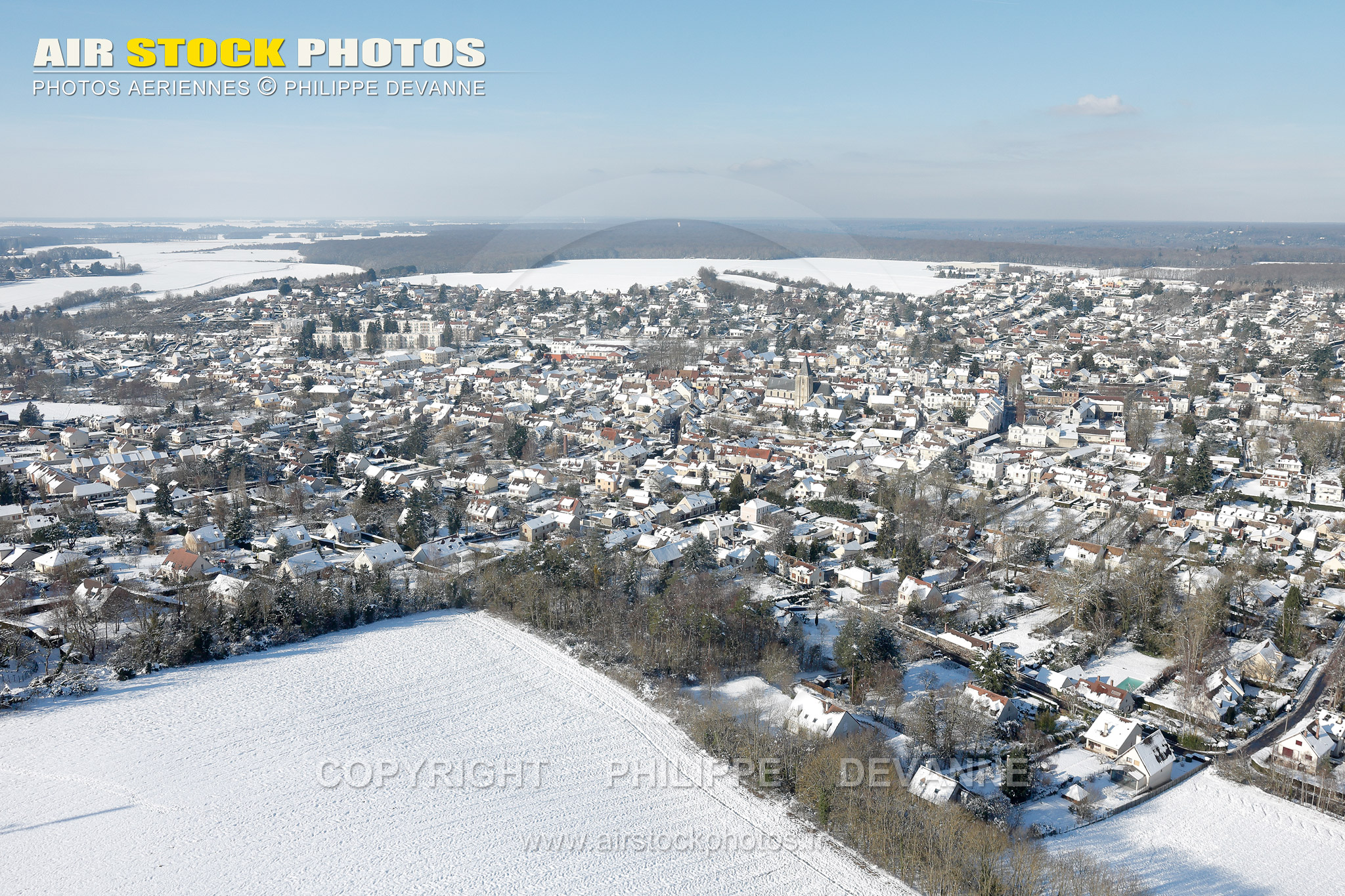 Saint-Arnoult  vue du ciel