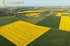 Colza Prunay-en-Yvelines vue du ciel