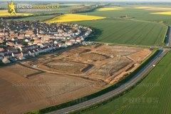 Construction les 3 Moulins Ablis vue du ciel