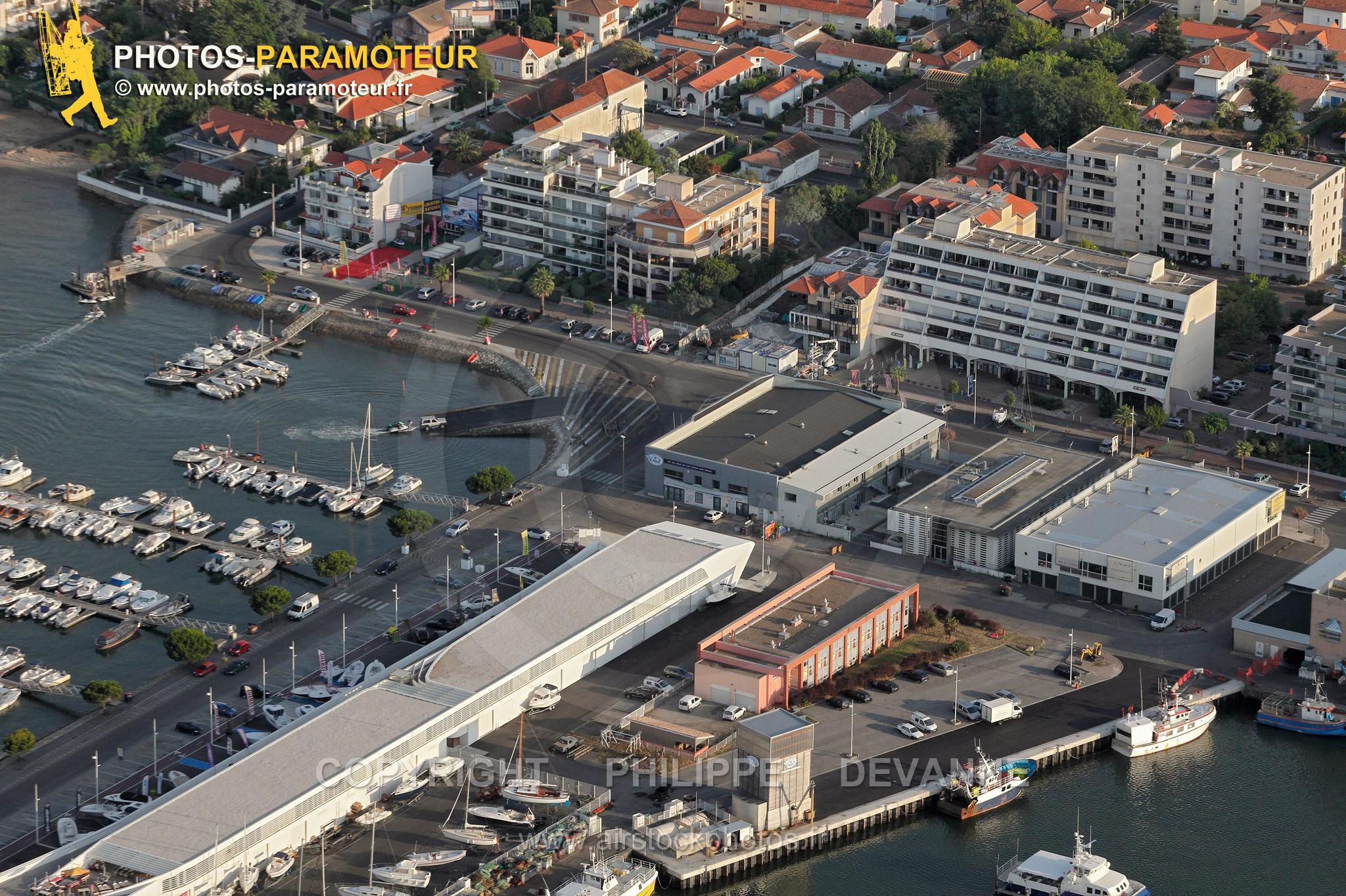 Port d'Arcachon vue du ciel
