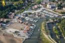 Lanton vue du ciel,  Port de Cassy