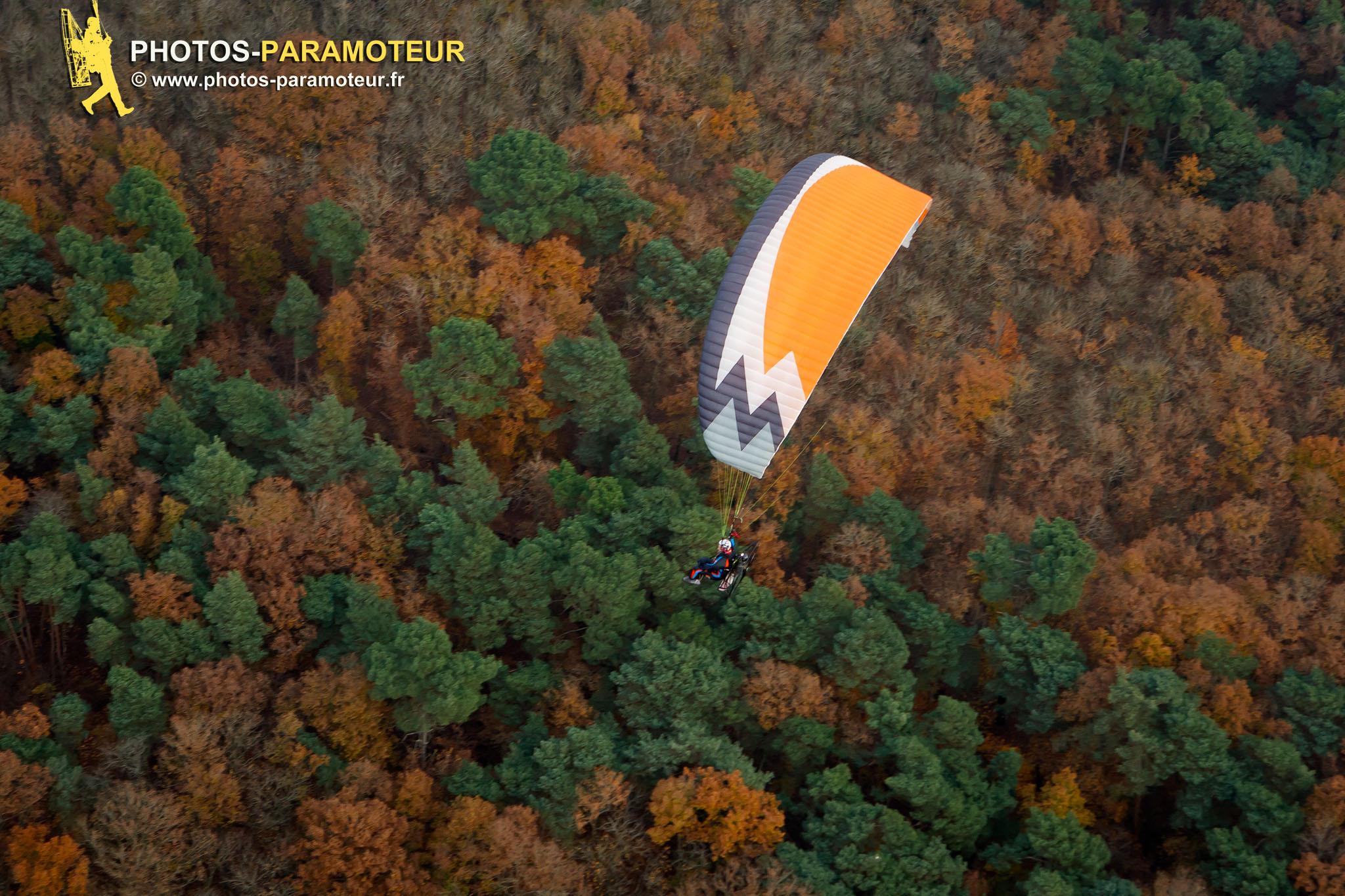 Paramoteur vol d'automne