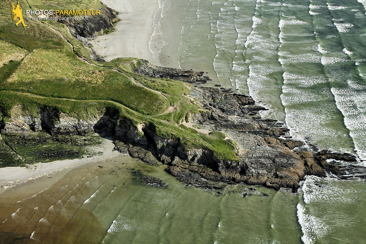 Pointe de Ty an Quer vue du ciel, Finistère