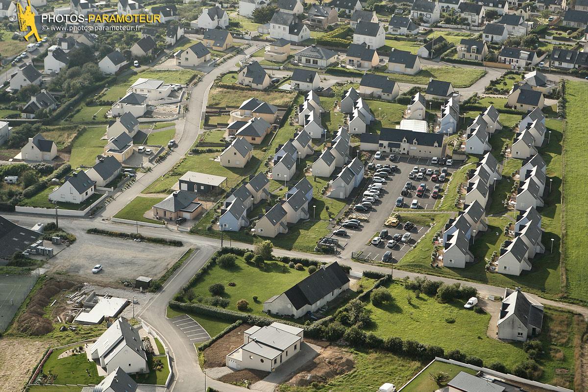 Les terrasses de Pentrez vue du ciel , Finistère