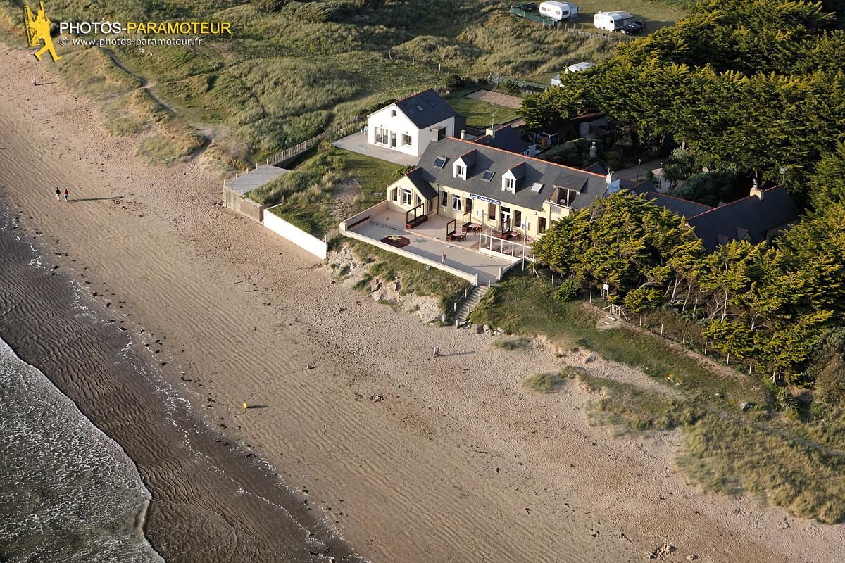 Tréguer plage vue du ciel, Finistère