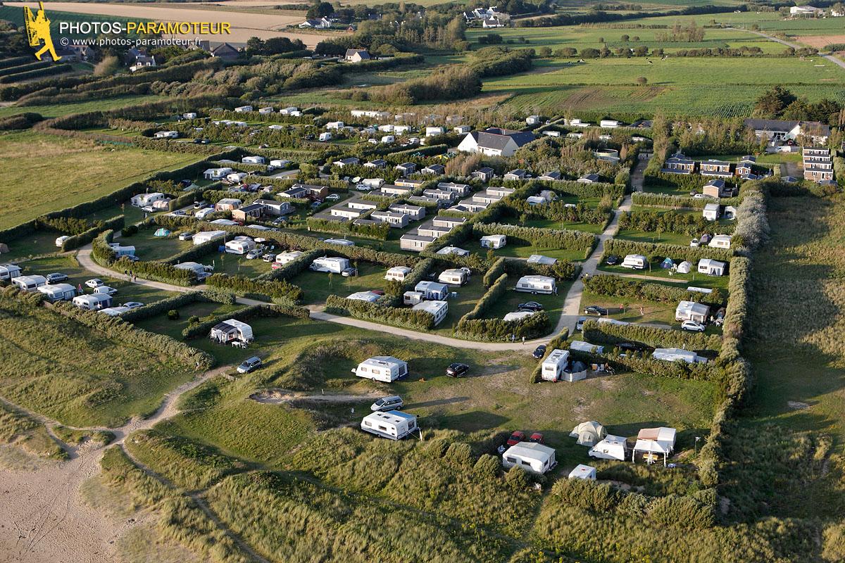 Camping Tréguer plage vue du ciel