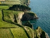 Falaises de Lanévry vue du ciel , Kerlaz, Finistère