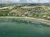 Plage de Lestrevet  vue du ciel à Plomodiern, Finistère
