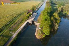 Ecluse de Ravereau vue du ciel à Merry-sur-Yonne en Bourgogne