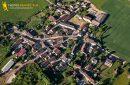 Sery vue du ciel dans le departement de l'Yonne en Bourgogne