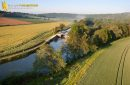 Photographie aérienne de l'ecluse de Ravereaux , commune de Merry-sur-Yonne 89