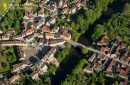 Arcy-sur-Cure vue du ciel, departement de l'Yonne en Bourgogne