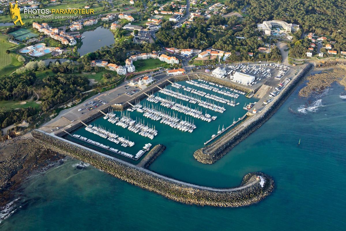 Photo aérienne port Bourgenay, Talmont-Saint-Hilaire