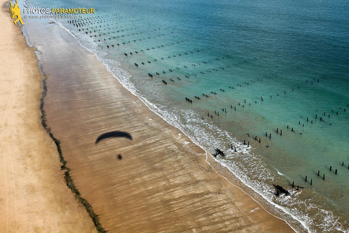 Paramoteur plage de la Gautrelle île d'Oléron