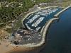 Vue aérienne du port de les Mathes La Palmyre
