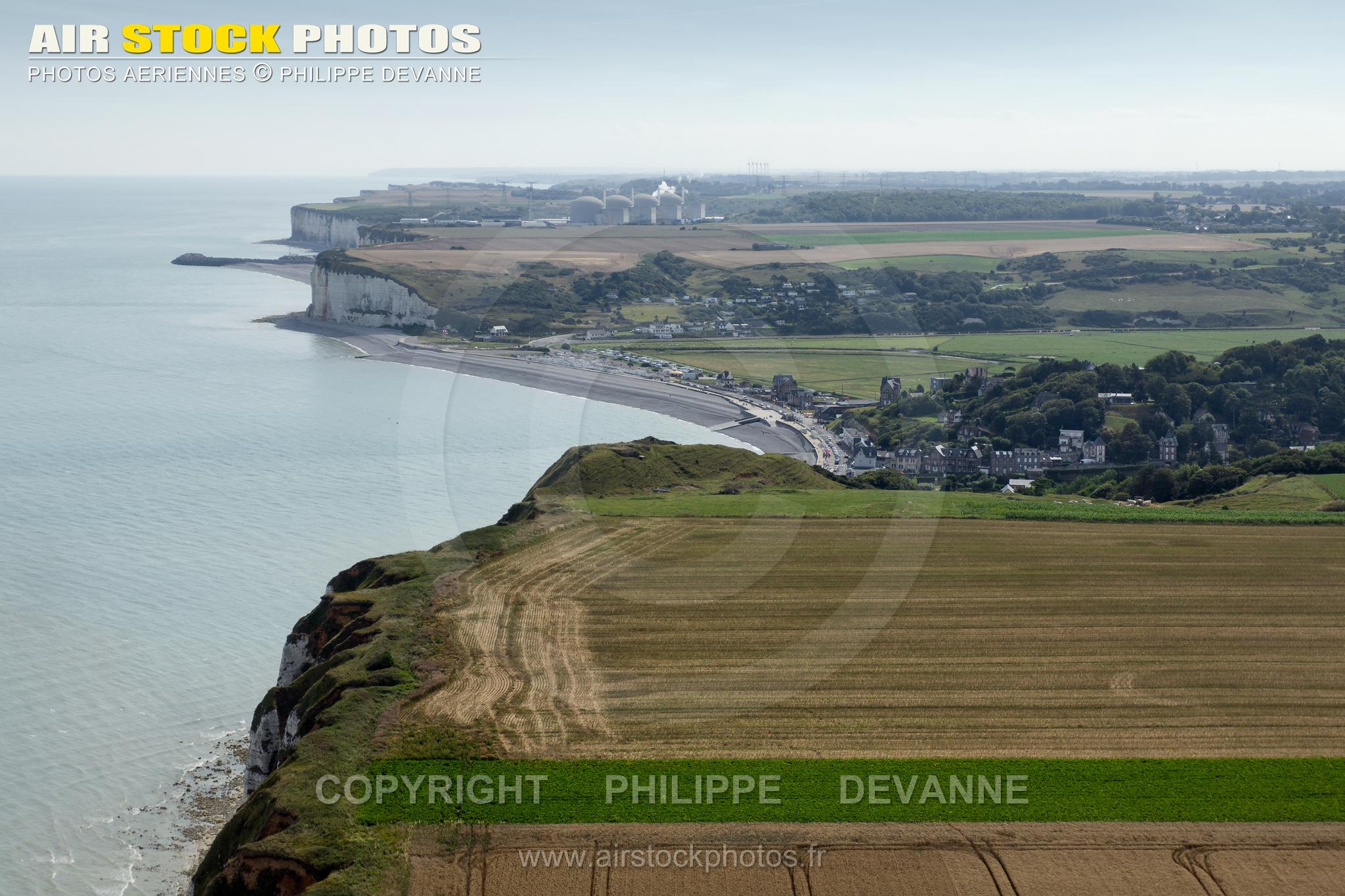 Vue aérienne de Veulettes-sur-mer Seine maritime 76