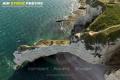 Vue aérienne falaise d'Amont  d'Etretat