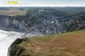 Vue aérienne Yport Seine maritime 76