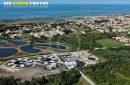 vue aérienne station d'épuration La Cotinière
