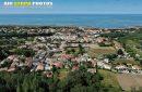 vue aérienne de La Cotinière, plage de Matha