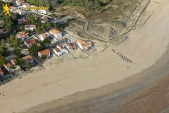 La-Tranche-sur-Mer seen from the sky in Vendee department
