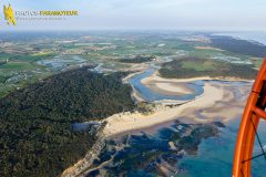 Anse du Veillon in Talmont-Saint-Hilaire seen from the sky in Vendée