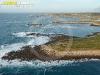 Côte de Landunvez, Bretagne Finistère vue du ciel