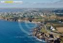 Le conquet Porz Liogan, Bretagne Finistère vue du ciel