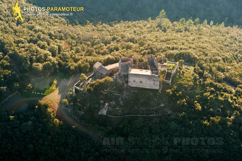 Château de Montalet, Les cévènnes vue du ciel