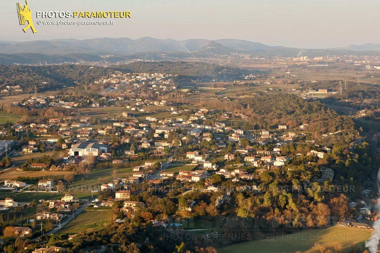 St-Privat-des-Vieux, Le Gard vue du ciel