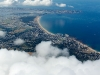 Photo aérienne au dessus des nuages de La Turballe 44
