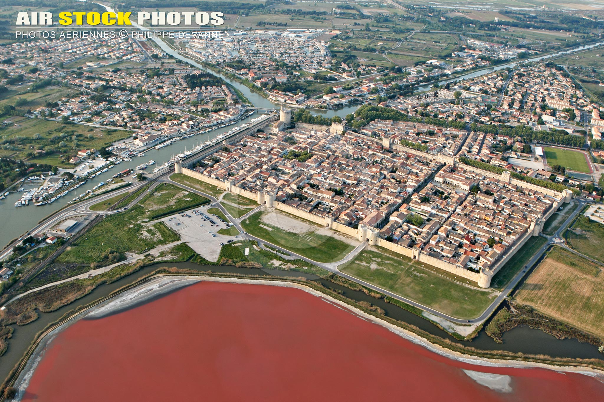 Photo aérienne d'Aigues-Mortes