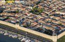 Photo aérienne remparts d'Aigues-Mortes (30220)