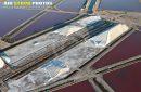vue aérienne des Salins d'Aigues-Mortes