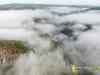 Pont de Ménat vue du ciel en paramoteur