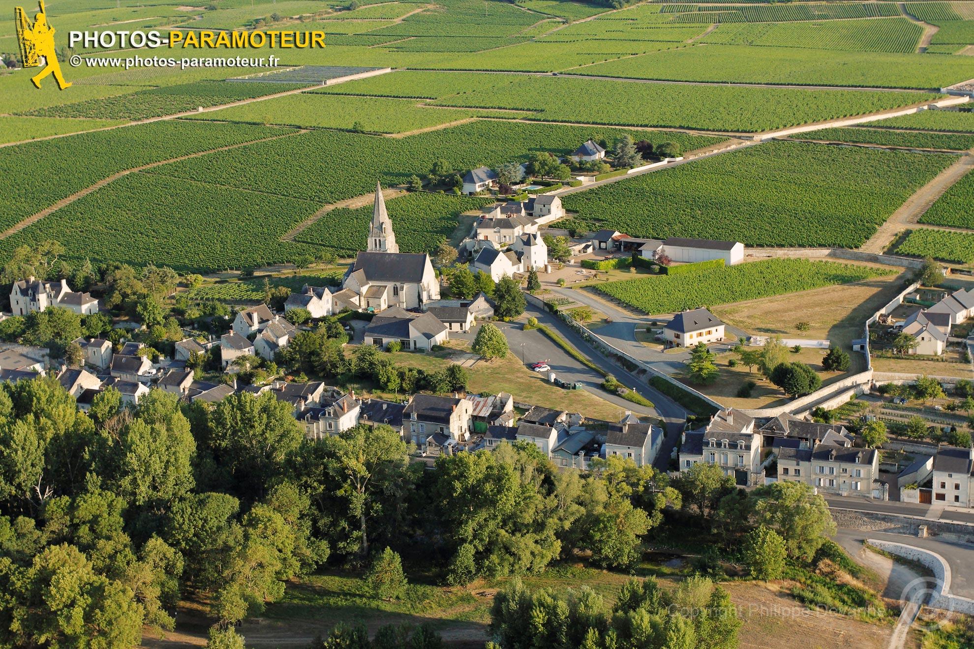 Souzay-Champigny vue du ciel, France