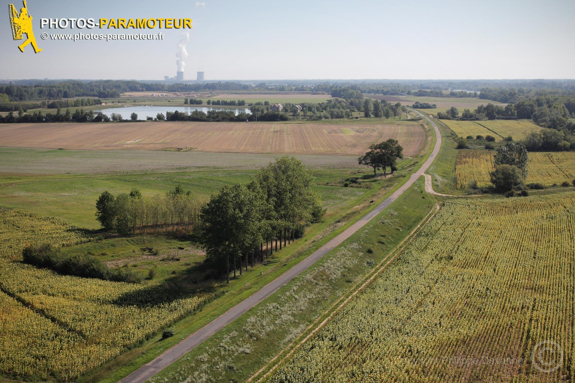 Levée de La Loire vue du ciel , Suèvres 41500