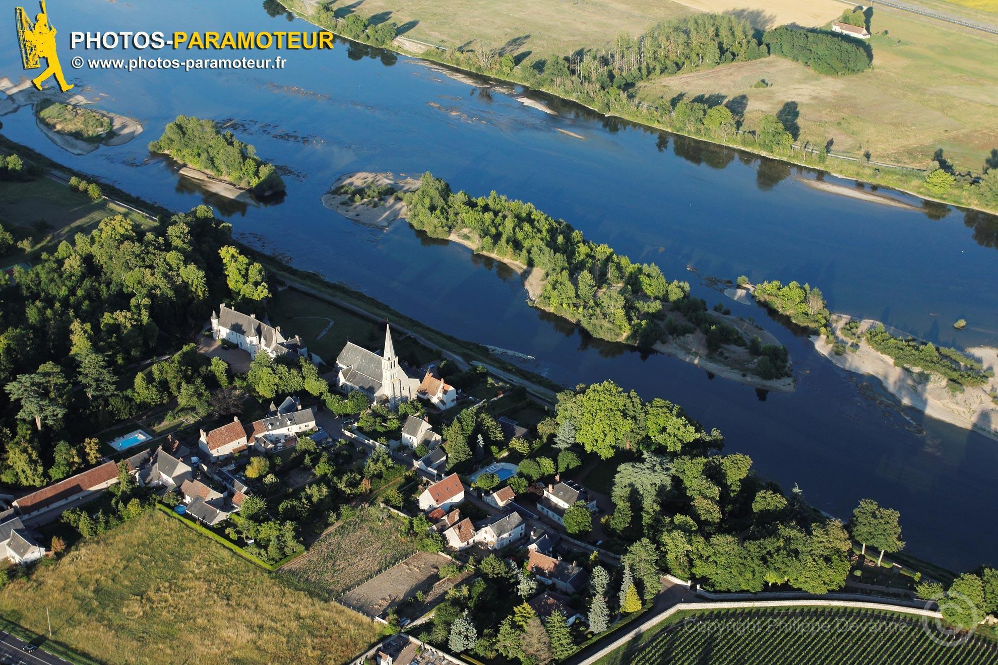 Cour-sur-Loire vu du ciel