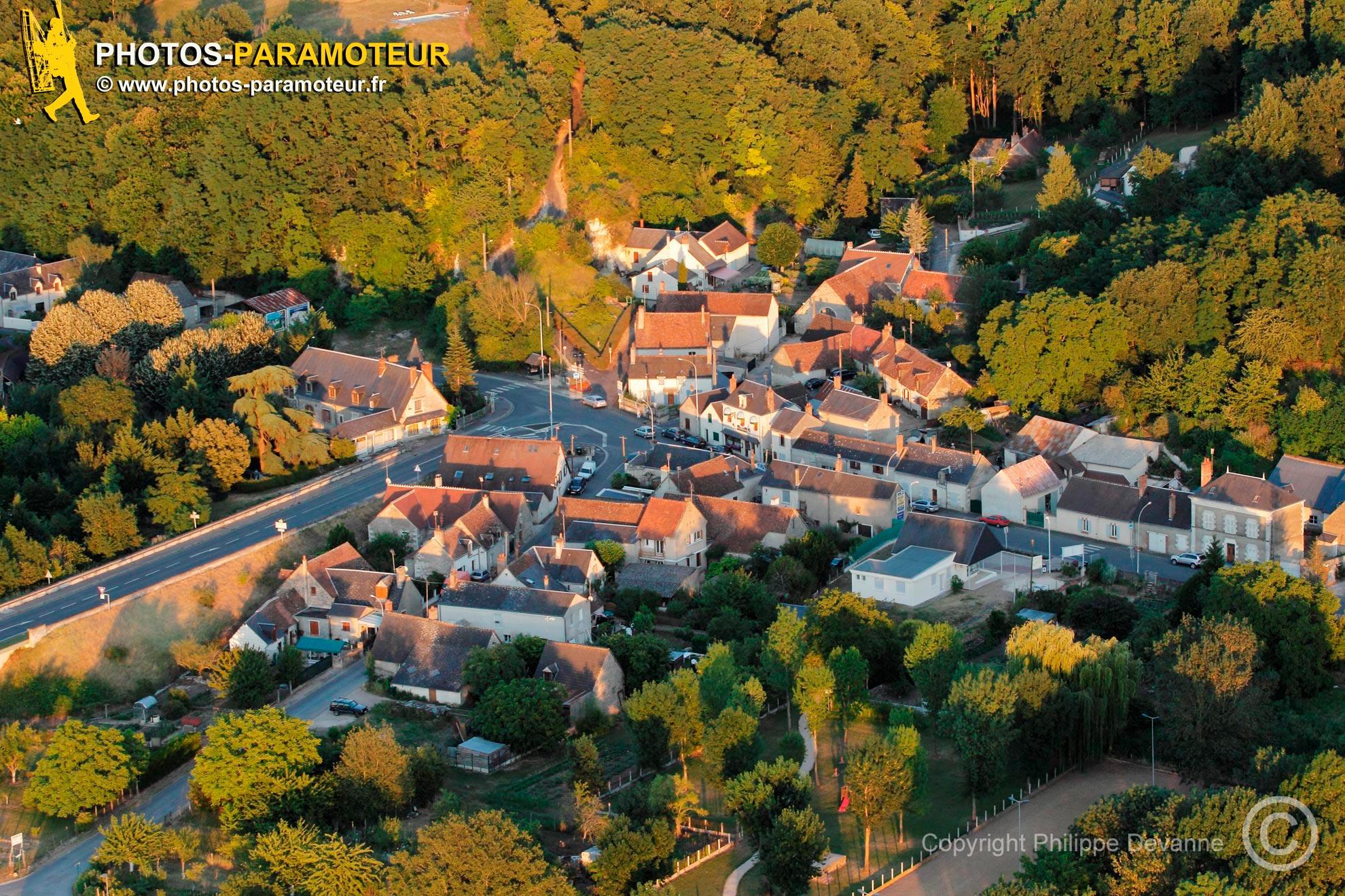 Vue aérienne de Chaumont-sur-Loire, Val de Loire