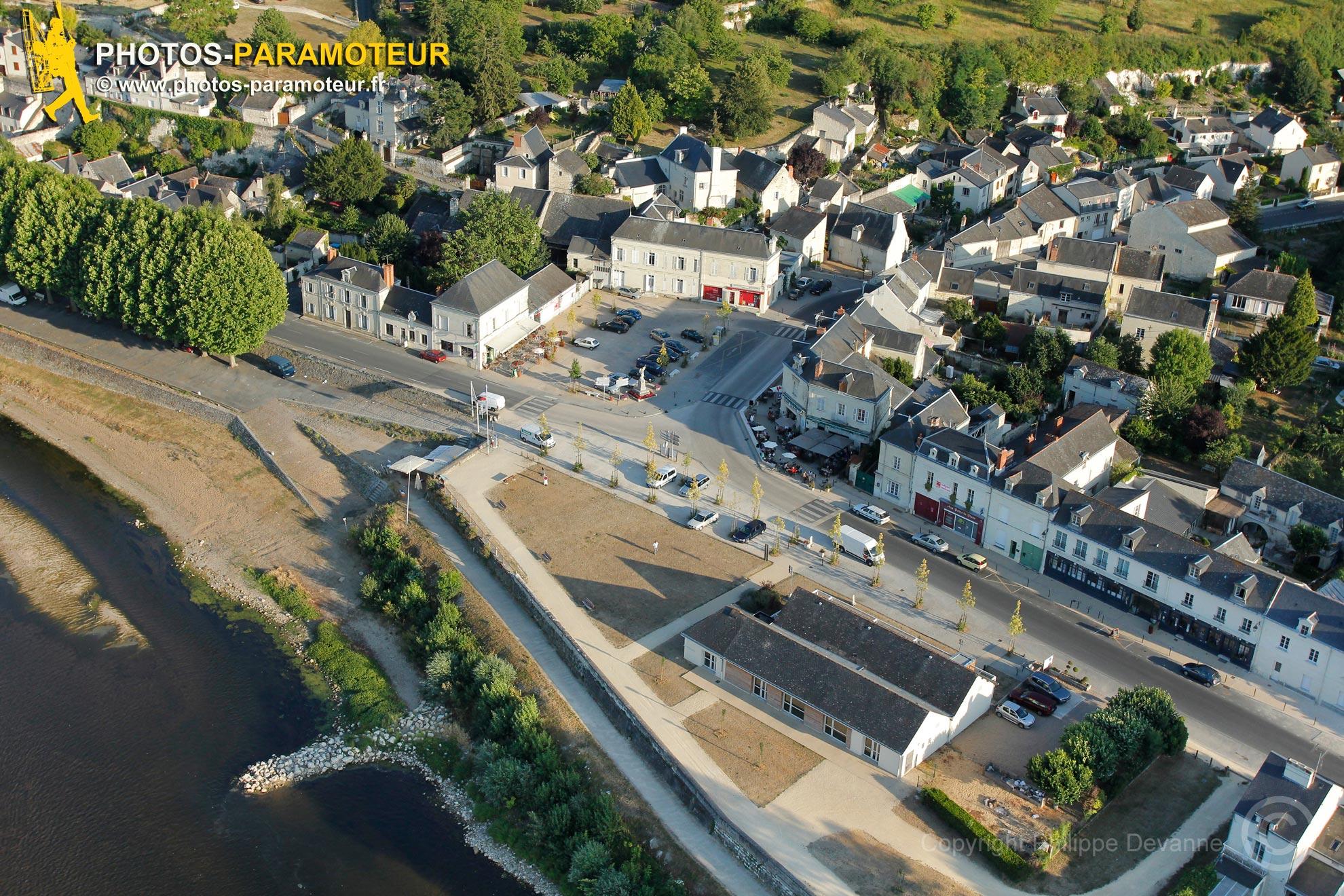 Montsoreau sur Loire vu du ciel