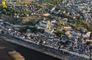 Photo aérienne du château de Saumur, France