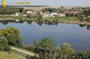 Cour sur Loire vu du ciel, région centre-val-de-Loire