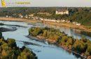 Chaumont sur Loire vue du ciel