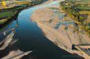 Epis de La Loire vue du ciel entre Ancenis et Varades