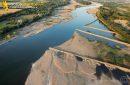 Epis de retenu de sable de La Loire vue du ciel