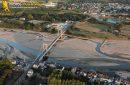 Viaduc de la Loire de Saint-Florent-le-Vieil vue du ciel