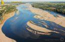 Le Fleuve de la Loire vue du ciel à Montsoreau